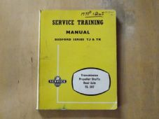 Bedford TJ & TK. Training Manual. Transmission.Prop shafts and rear axle. TS507.